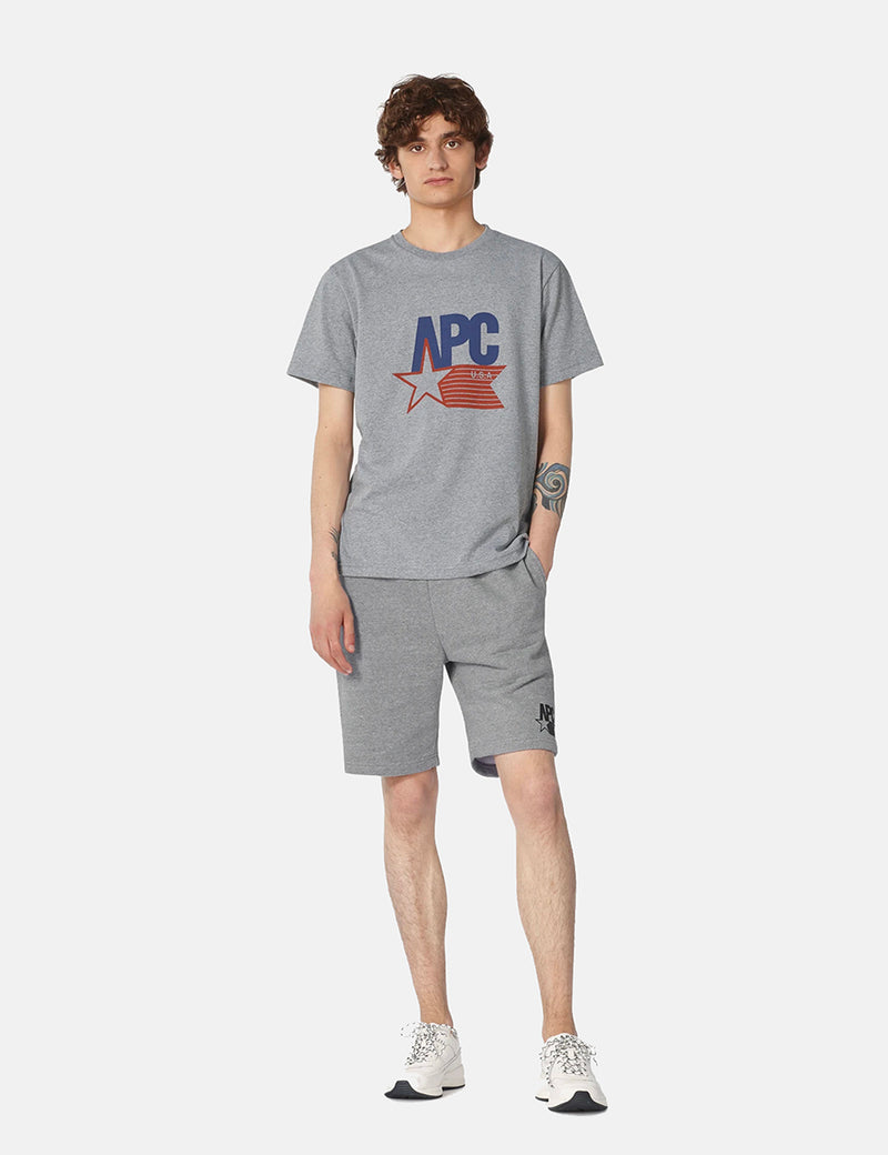A.P.C. Cornelius T-Shirt - Grey Heather
