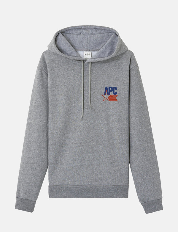 A.P.C. Bernardo Hoodie - Grey Heather