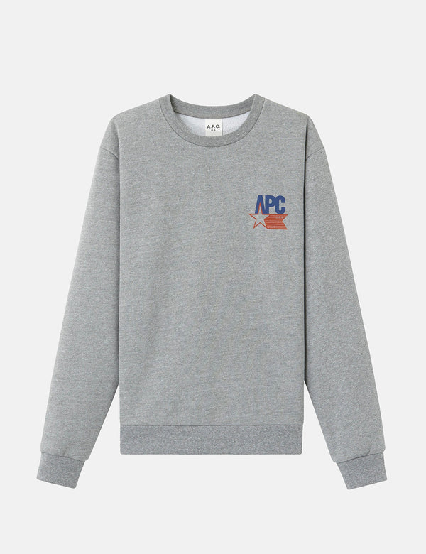 A.P.C. Reynaldo Sweatshirt - Grey Heather