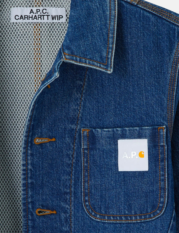 A.P.C. x Carhartt-WIP Talk Denim Jacket - Indigo Blue