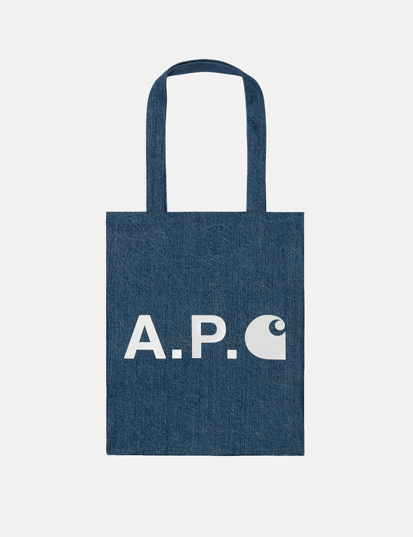 A.P.C. x Carhartt-WIP Tote Bag - Washed Indigo