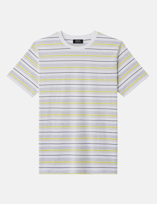 A.P.C. Dario Striped T-Shirt - White