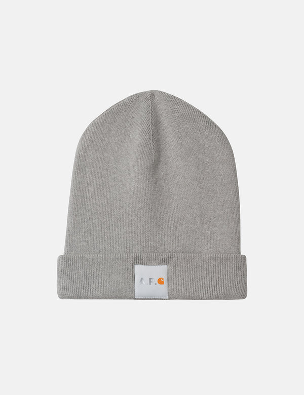 A.P.C. x Carhartt-WIP Watchtower Beanie Hat - Light Grey