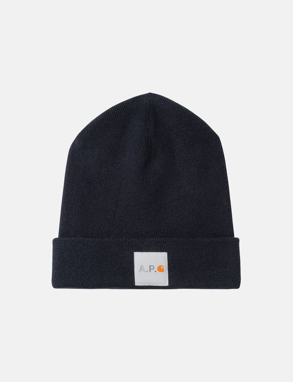 A.P.C. x Carhartt-WIP Watchtower Beanie Hat - Dark Navy Blue