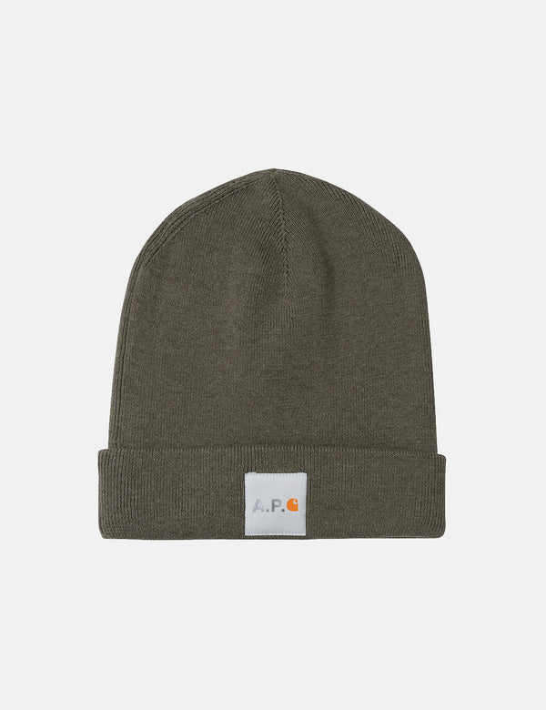 A.P.C. x Carhartt-WIP Watchtower Beanie Hat - Light Khaki