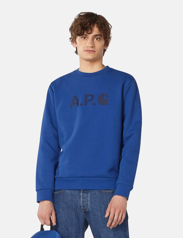 A.P.C. x Carhartt-WIP Ice Sweatshirt - Royal Blue