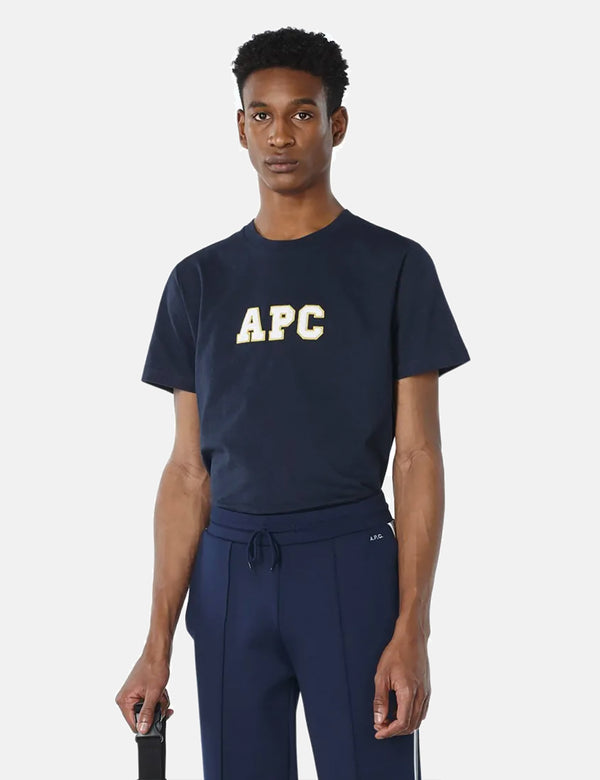 APC Gael T-Shirt - Heather Marineblau