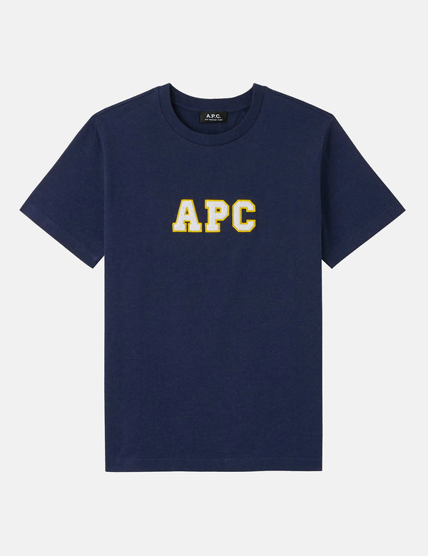 A.P.C. Gael T-Shirt - Heather Navy Blue