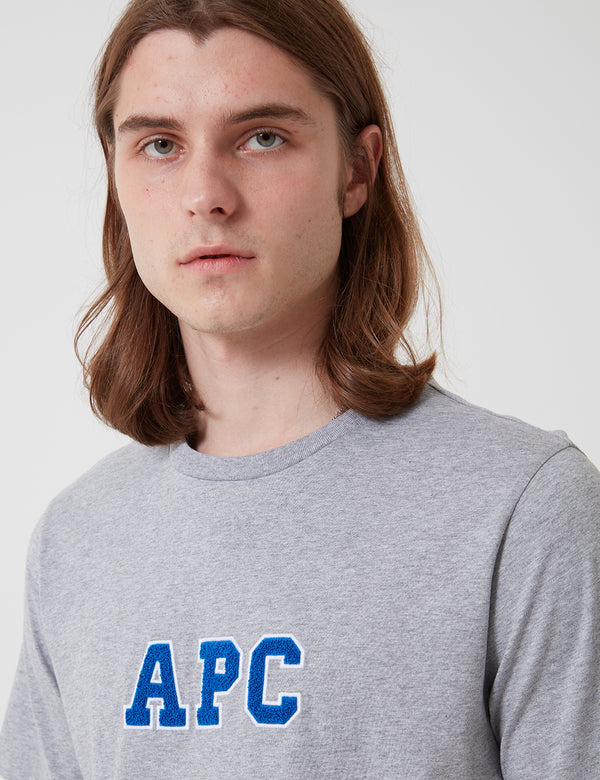 A.P.C. Gael T-Shirt - Grey Heather