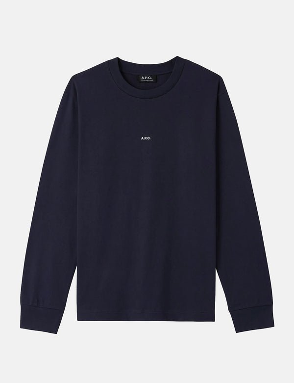 A.P.C. Chris Long Sleeve T-Shirt - Dark Navy Blue