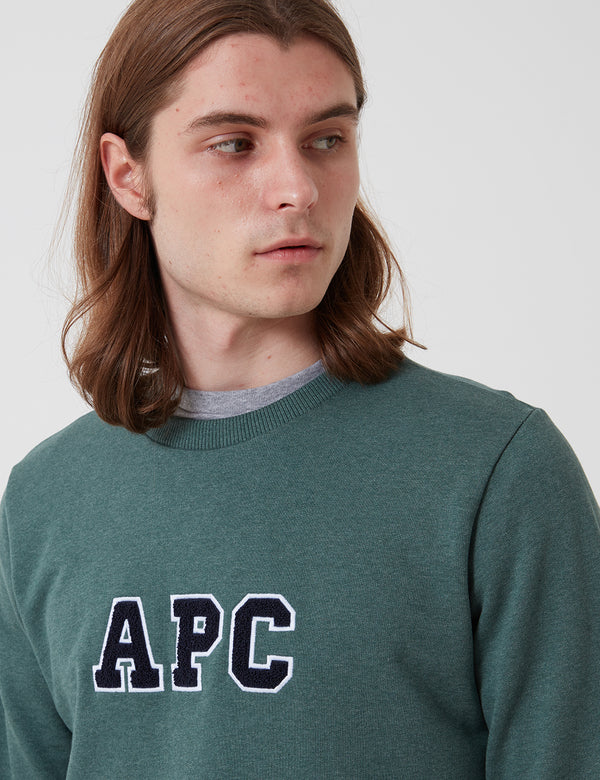 A.P.C. Malcolm Sweatshirt - Heathered Green