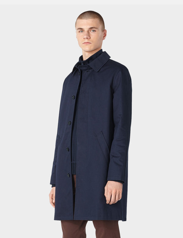A.P.C. Mac Ville Trench Coat - Dark Navy Blue