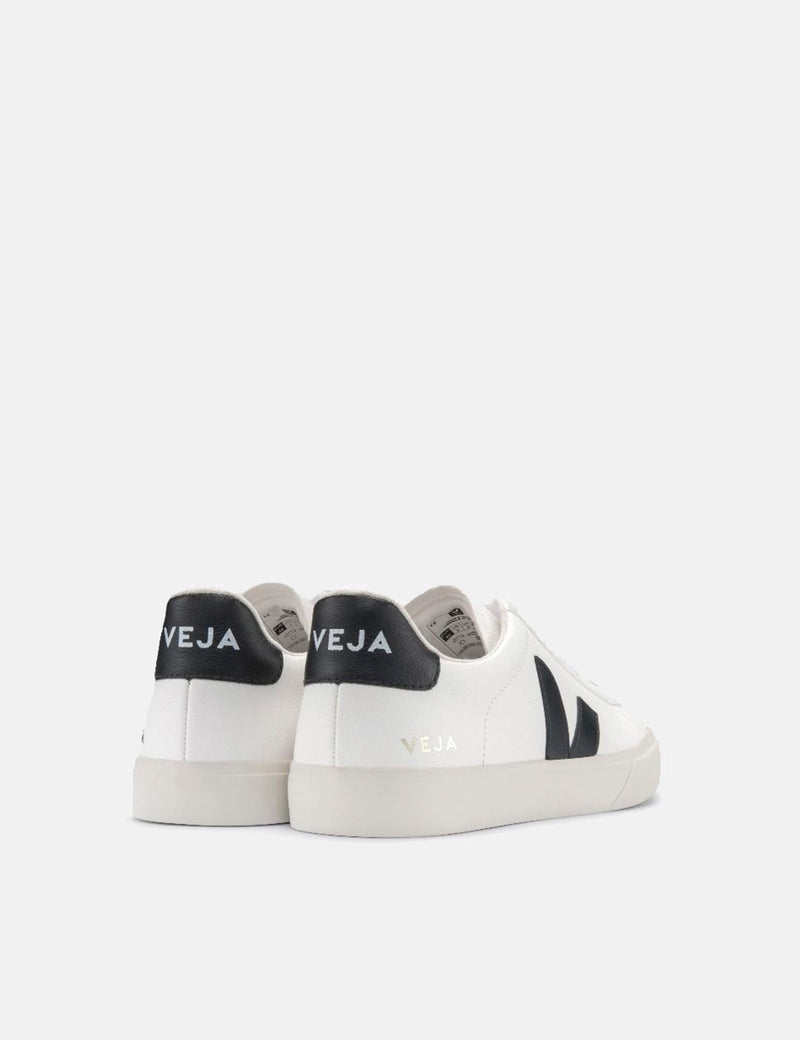 Womens Veja Campo Trainers (Chrome Free Leather) - White/Black