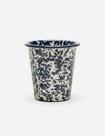 Crow & Canyon Marbled Enamel Short Tumbler - Navy Blue - Article