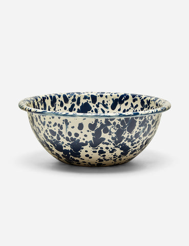 Crow & Canyon Marbled Enamel Cereal Bowl - Navy Blue - Article