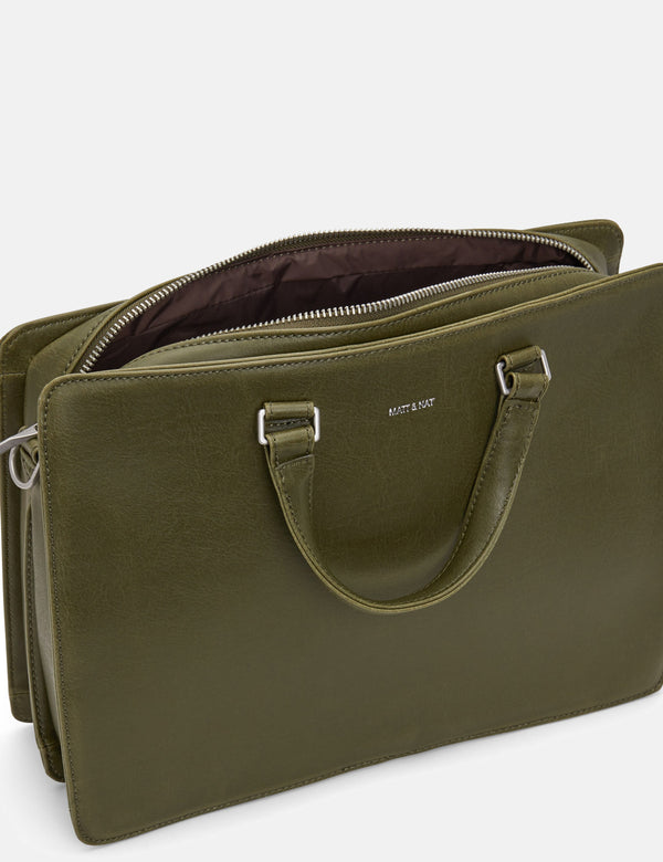 Matt & Nat David Briefcase - Olive Green