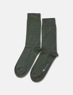 Democratique Solid Socks - Army Green