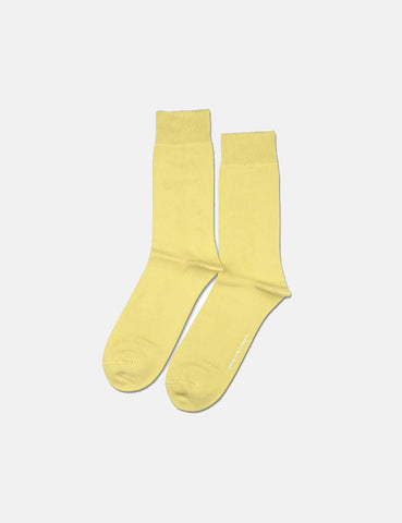 Democratique Original Solid Socks - Pale Yellow