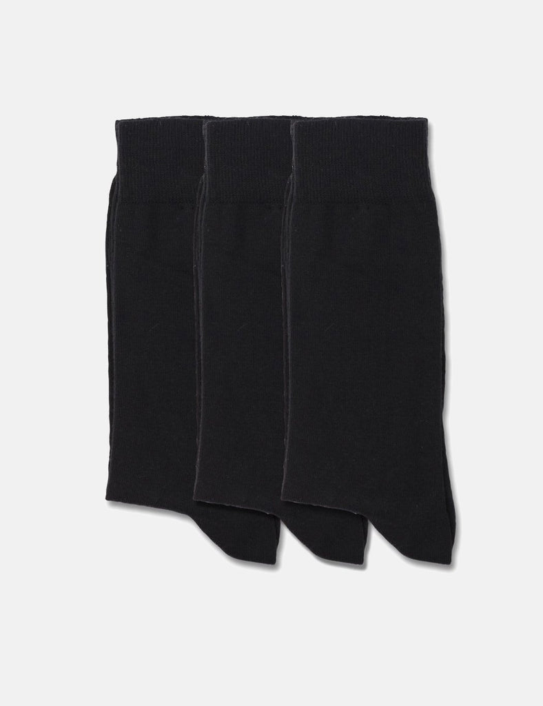 Democratique Solid Socks 3 Pack - Black - Article