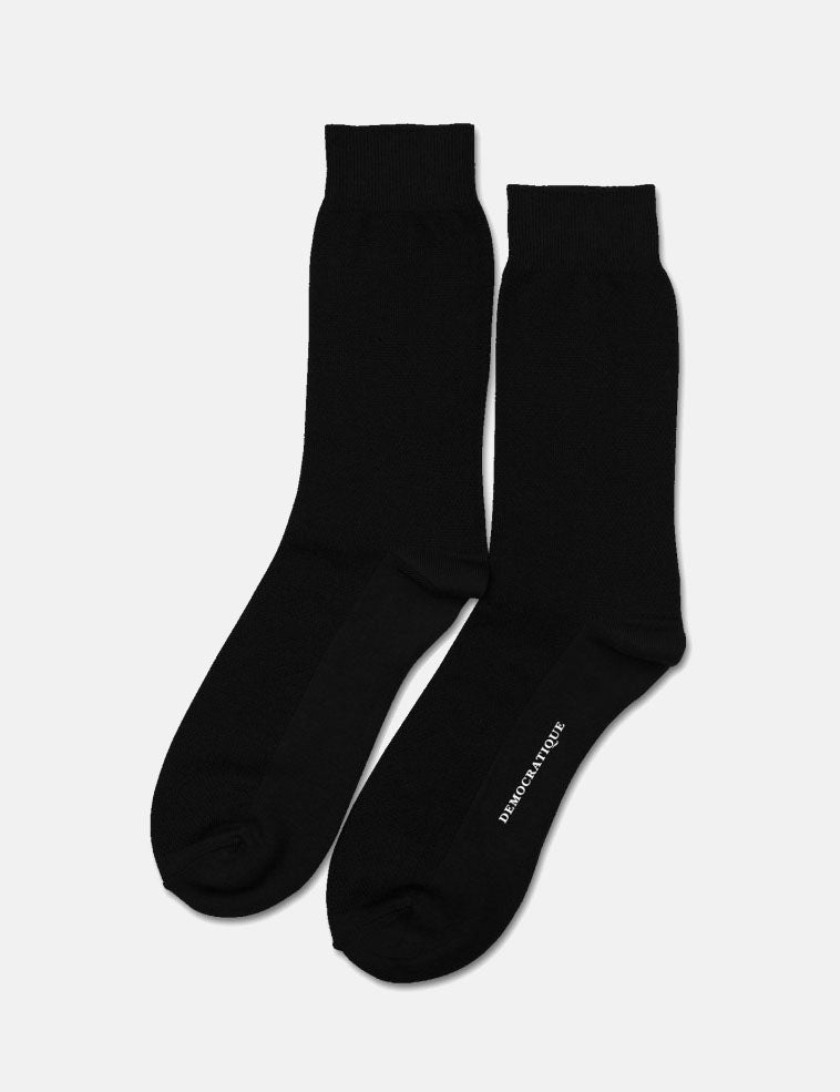 Democratique Originals Champagne Pique Socks - Black