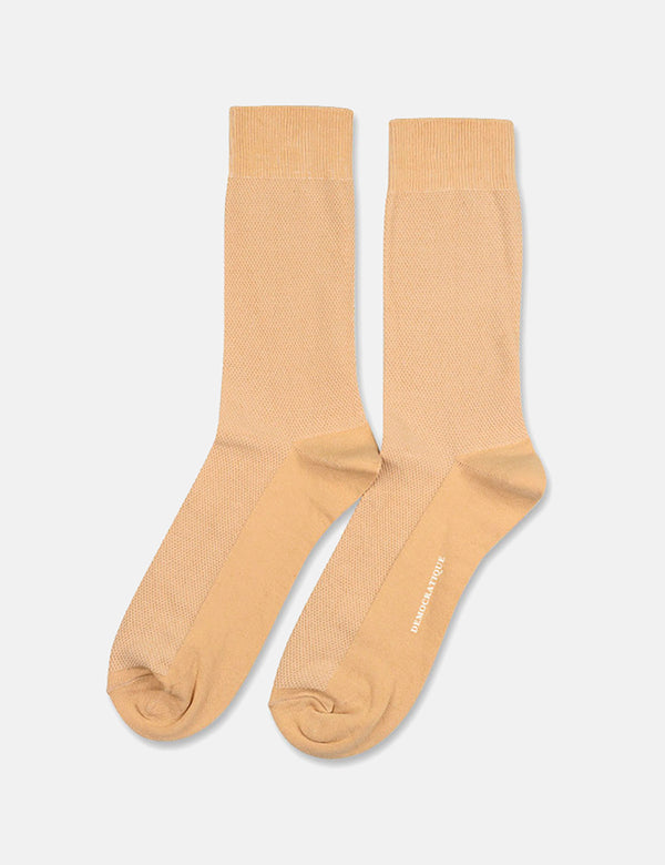 Democratique Originals Champagne Pique Socks - Casual Sand