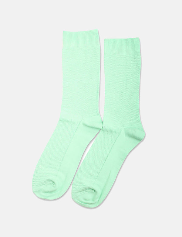 Democratique Originals Champagne Pique Socks - Pale Green