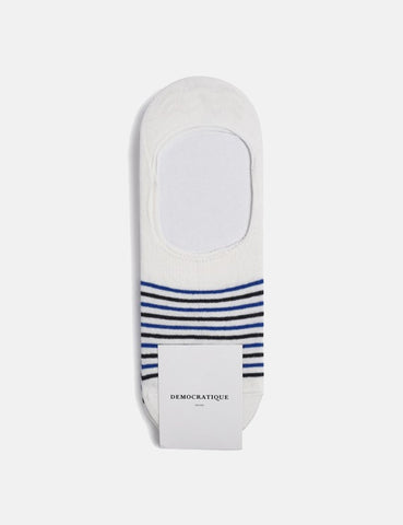 Democratique Sneaker Socks Invisible 3 pack - Broken White/Henry Blue/Navy - Article
