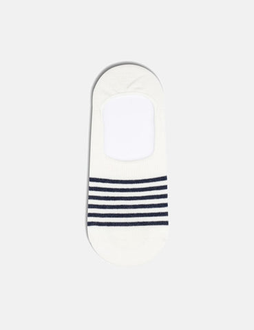 Democratique Sneaker Socks Invisible 3 pack - Navy/Broken White Stripes - Article