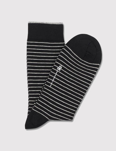 Democratique Mini Striper Socks - Black/Light Grey - Article