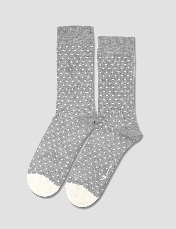Democratique Originals Polkadot Socks - Light Grey Melange - Article