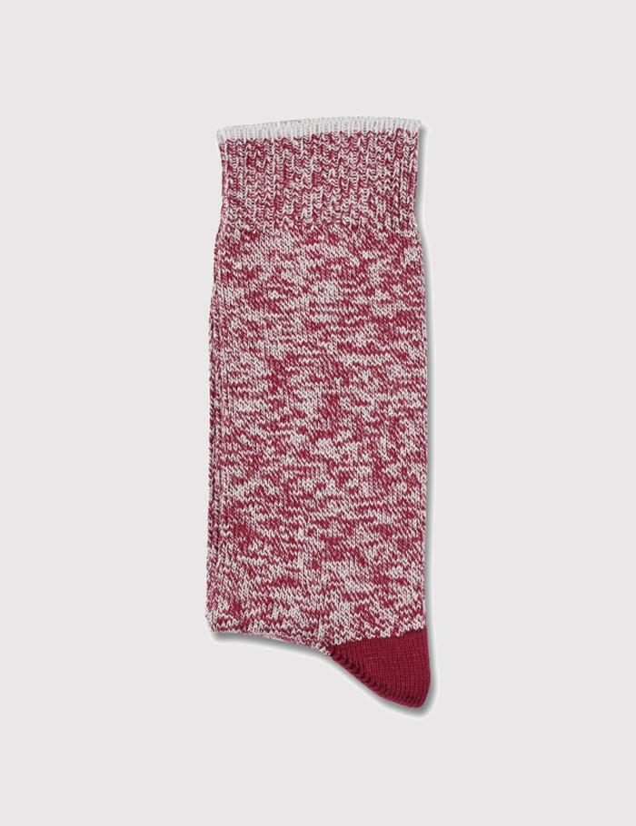 Democratique Relax Twister Socks - Red Wine/Stone - Article