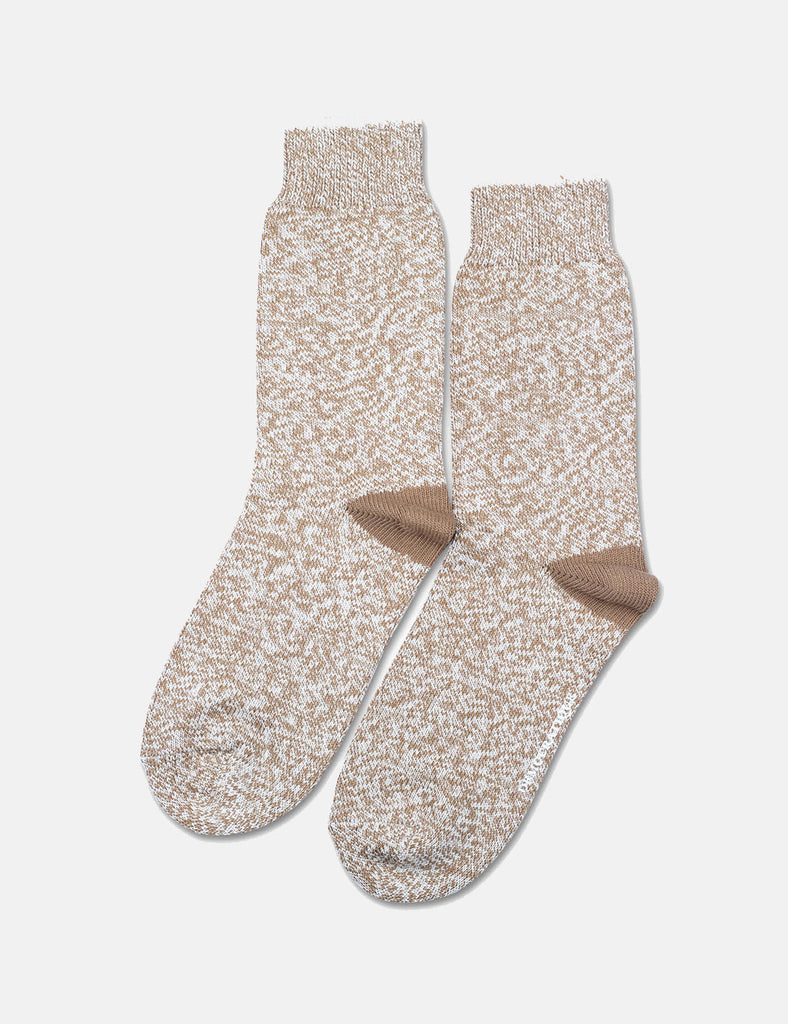 Democratique Relax Twister Socks - Dirty Camel/ Off White