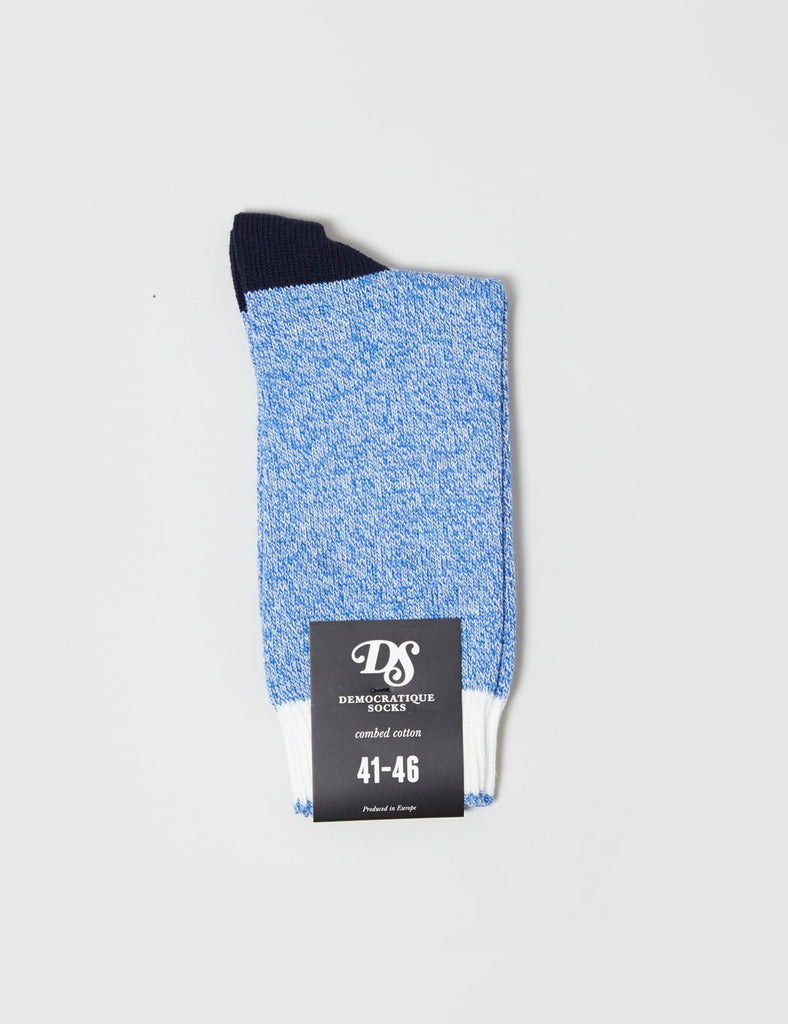 Democratique Relax Melange Contrast Socks - Blue - Article