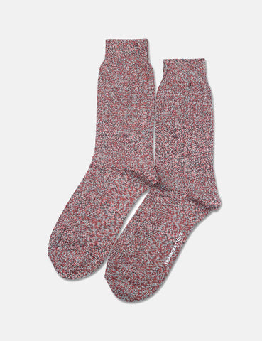 Democratique Relax Bubble Socks - Charcoal/Rust - Article