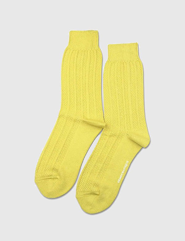 Democratique Relax Bubble Socks - Dusty Yellow - Article