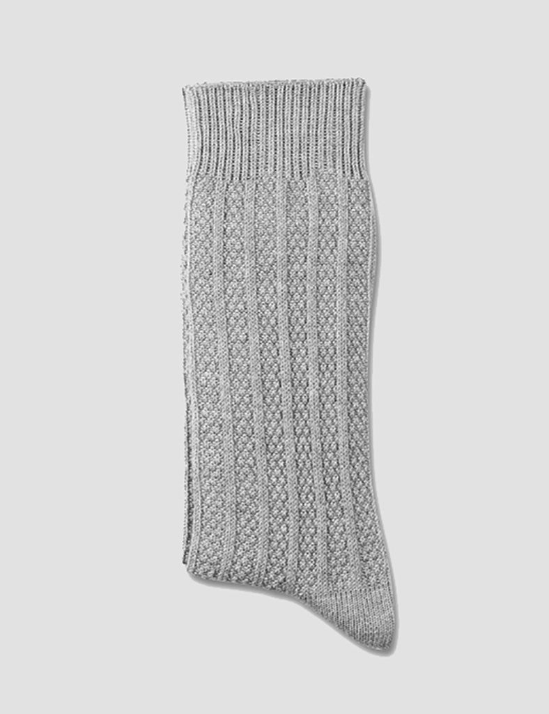 Democratique Relax Bubble Socks - Light Grey Melange - Article