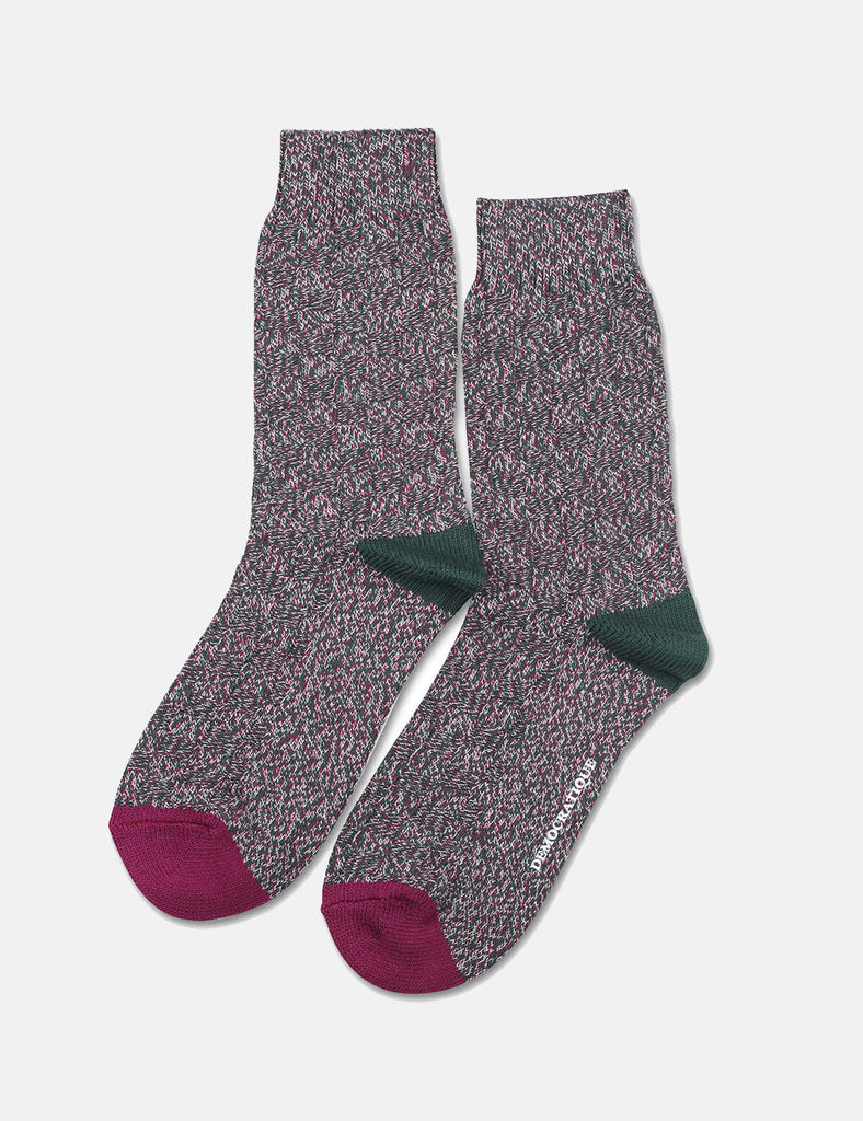 Democratique Relax 8 by 8 Weave Socks - Forrest Green - Article