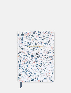 Designworks Ink Hard Cover Terrazzo Journal - Indigo Blue