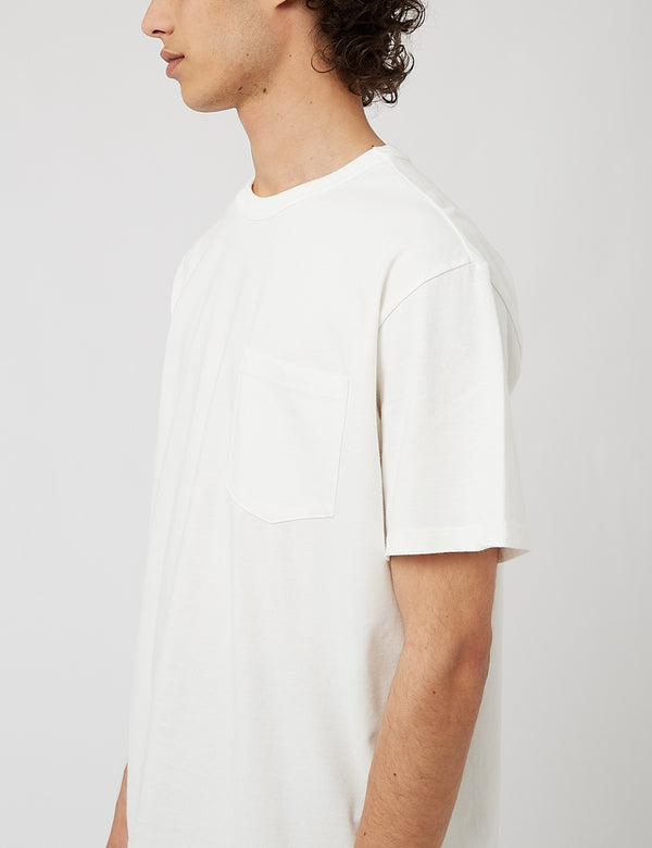 Eastlogue One Pocket T-Shirt - Off White