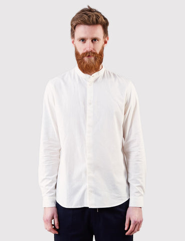 Folk Grandad Shirt - White