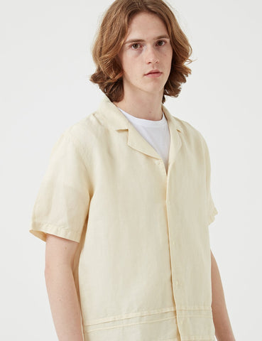 Folk Horizon Short Sleeve Shirt - Soft Yellow
