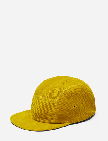 Folk 5-Panel Cord Cap - Sulphur Yellow
