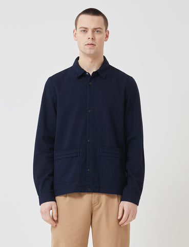 Folk Horizon Jacket - Indigo Twill Blue