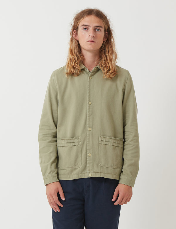 Folk Horizon Jacket - Pale Olive Green