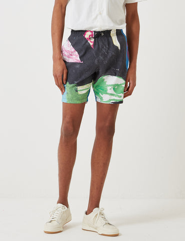 Folk Swim Shorts - Alfie Print Black