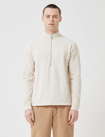 Folk Rivet Funnel Neck Sweatshirt - Stone