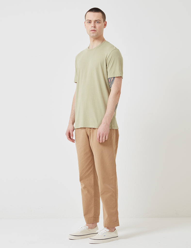 Folk Assembly Tee - Pale Olive Green
