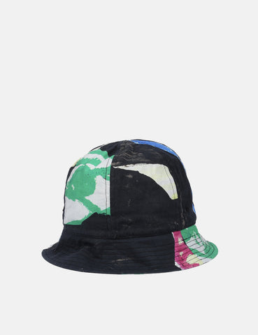 Folk Bucket Hat - Alfie Print Black