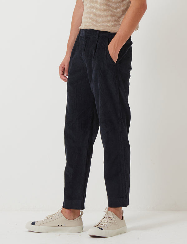 Folk Signal Trousers (Cord) - Charcoal Grey