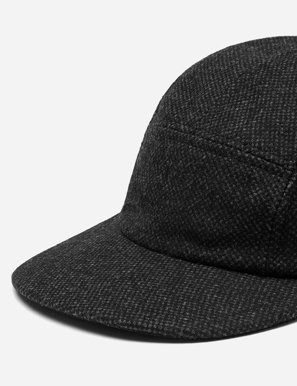 Folk 5-Panel Cap (Mix Fabric) - Charcoal Grey